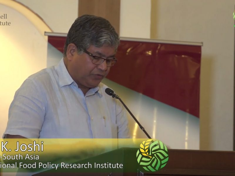 Agricultural markets and access to rural diet diversity - Dr. P.K. Joshi